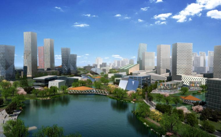 江苏常州西太湖生态休闲区核心片区城市景观-效果图4