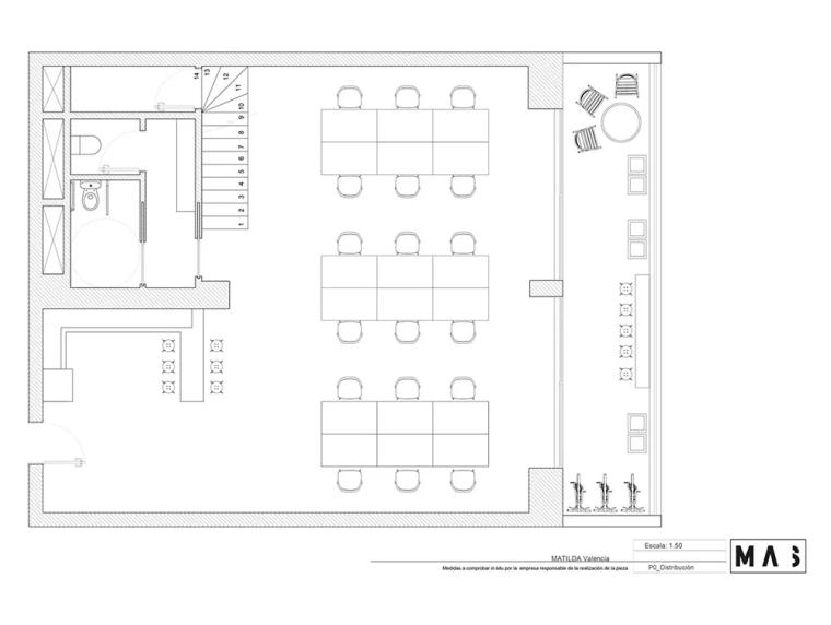 瓦伦西亚联合办公空间设计平面图 (1)