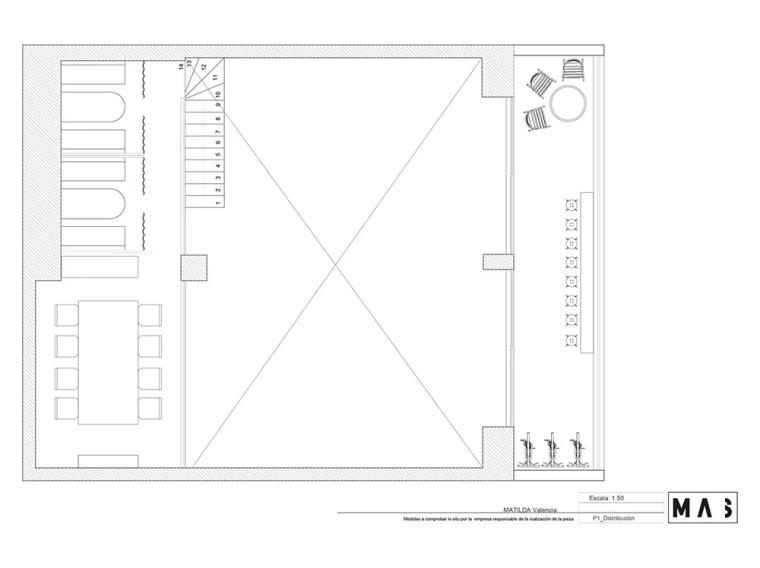 瓦伦西亚联合办公空间设计平面图 (2)