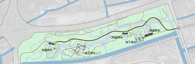 [上海]精致休闲国际旅游度假区规划设计方案-停车布局