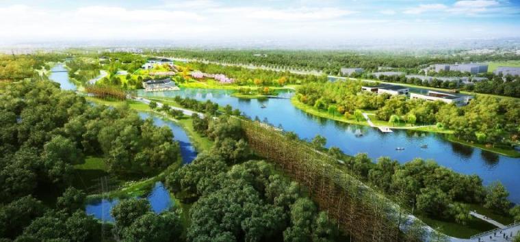 [上海]精致休闲国际旅游度假区规划设计方案-东区效果图