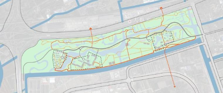[上海]精致休闲国际旅游度假区规划设计方案-疏散通道