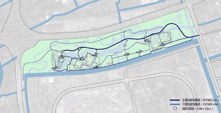 [上海]精致休闲国际旅游度假区规划设计方案-消防通道效果图