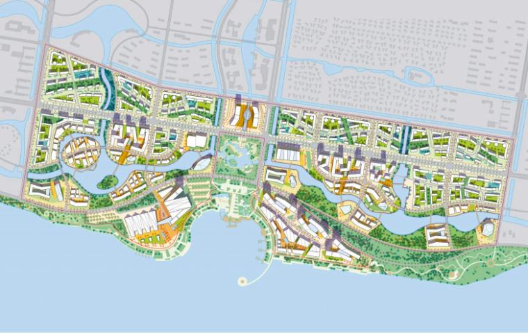 江苏常州西太湖生态休闲区核心片区城市景观-平面图