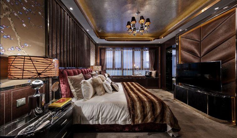 [深圳]234㎡欧式三居家装样板房设计施工图-20160324173268906890