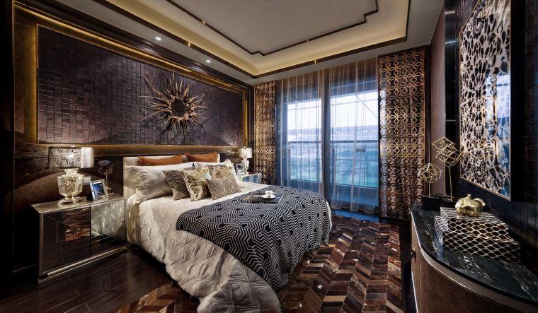 [深圳]234㎡欧式三居家装样板房设计施工图-20160324173549884988
