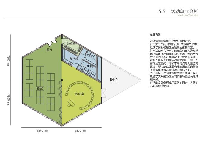 无锡庭院式16班幼儿园规划设计方案文本2019-活动单元分析