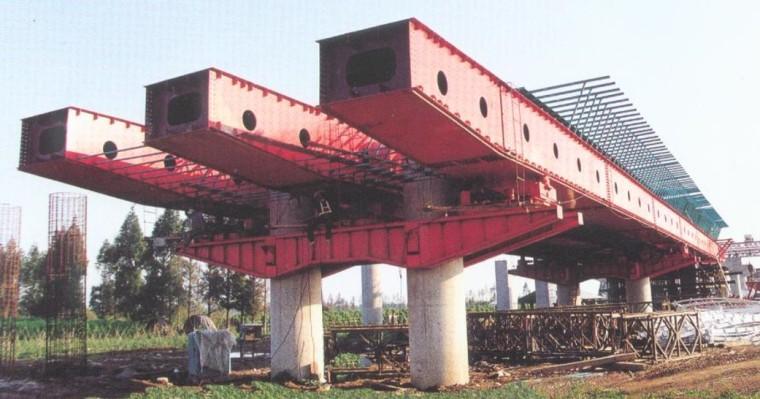 桥梁工程施工技术分类介绍(116页)-下行式造桥机
