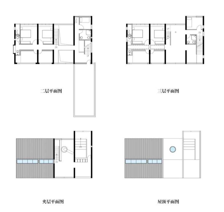 浙江间之家MAHouse建筑-浙江间之家MA House 建筑平面图