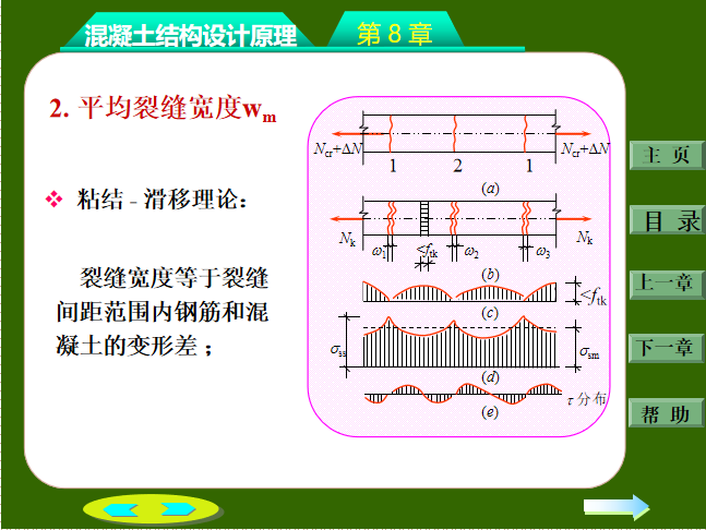 钢筋混凝土构件的裂缝和变形PPT(32页)-平均裂缝宽度