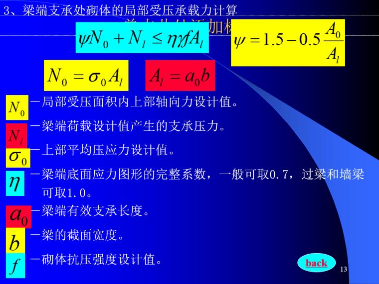 砌体结构设计PPT(108页)-梁端支承处砌体的局部受压承载力计算
