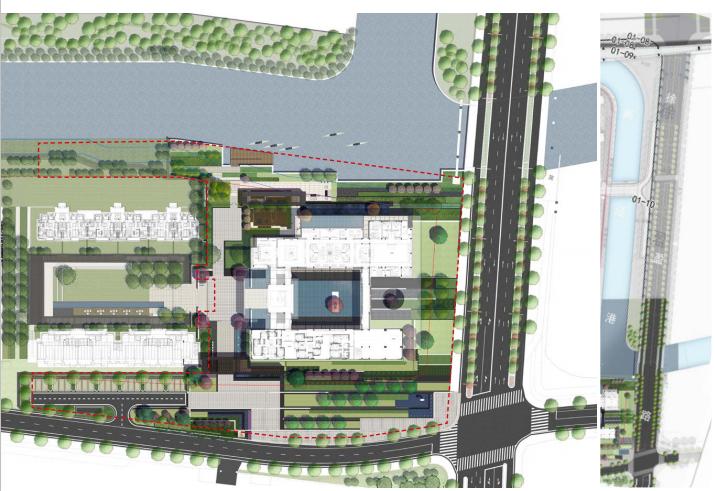 [上海]某知名亲水休闲住宅展示区景观设计-总平面图