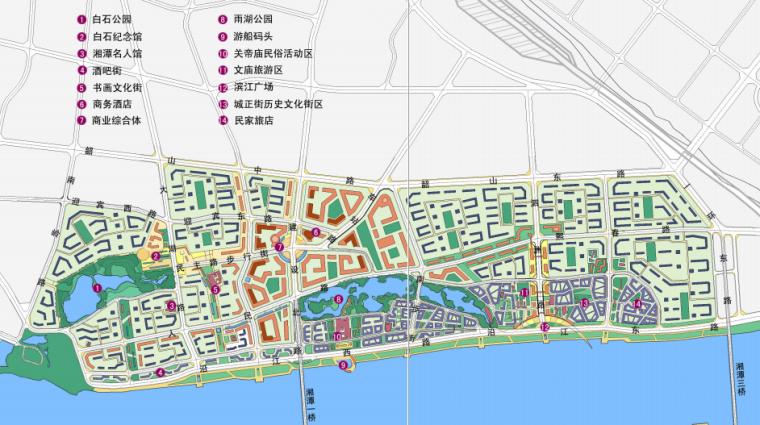 [湖南]湘潭湘江生态经济带景观绿带设计-总体布局