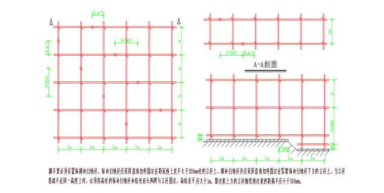 5层框架结构厂房脚手架专项施工方案-02 立杆及纵横向水平杆构造要求