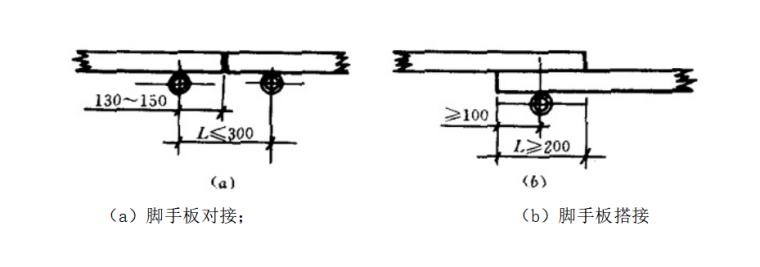 5层框架结构厂房脚手架专项施工方案-03 脚手板对接及搭接