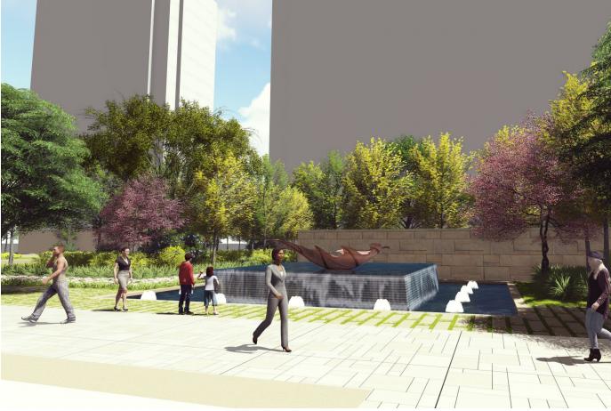 [福建]厦门现代创意自然园林住宅景观设计-通道区效果图