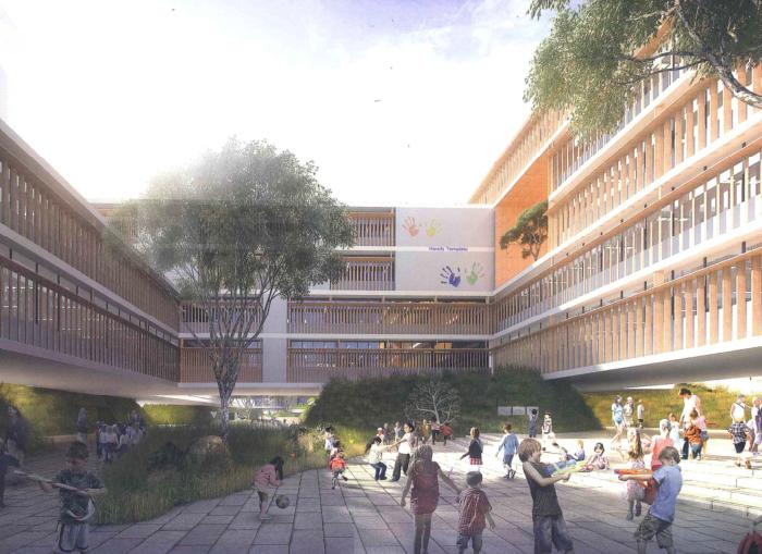 松山国际学校项目投标文本2016_大院-方案一效果图