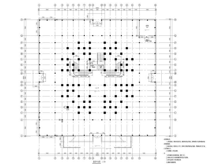 浦东川沙鹤鸣楼修缮项目建筑施工图2017-基座平面图