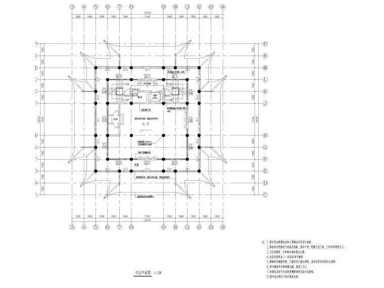 浦东川沙鹤鸣楼修缮项目建筑施工图2017-五层平面图