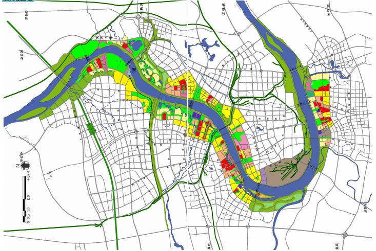 [湖南]湘潭湘江生态经济带景观绿带设计-空间规划布局