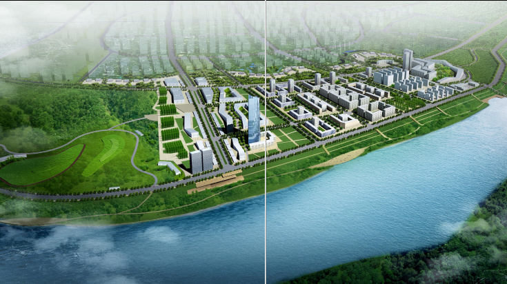 [湖南]湘潭湘江生态经济带景观绿带设计-澄江效果图