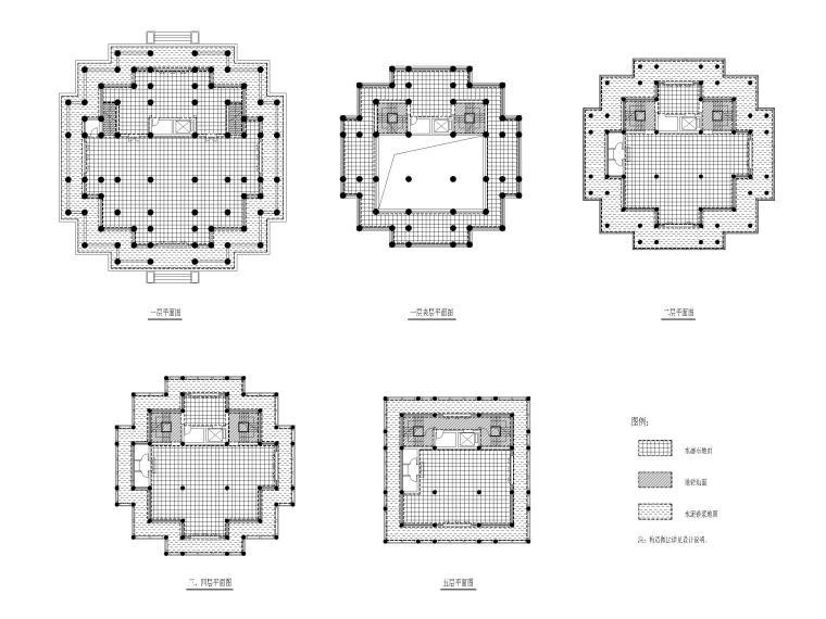 浦东川沙鹤鸣楼修缮项目建筑施工图2017-地面铺装做法示意图