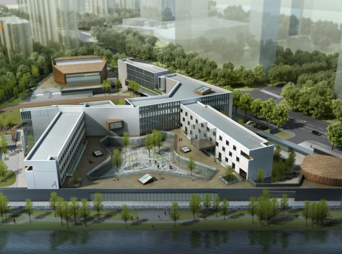 宁波开放式孙马学校规划建筑设计方案文本-效果图1