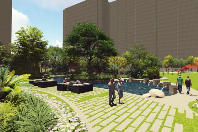 [福建]厦门现代创意自然园林住宅景观设计-效果图
