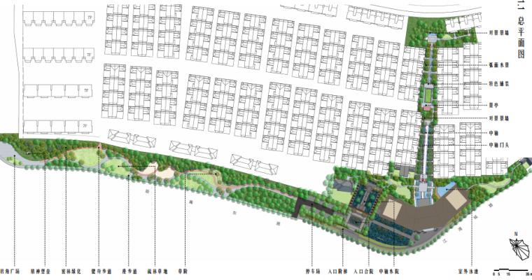 [上海]海派传统中式院子住宅景观方案文本-总平面图