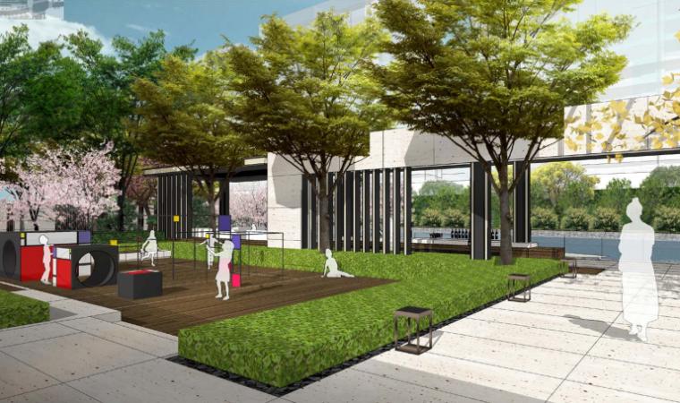 [上海]某知名亲水休闲住宅展示区景观设计-休闲平台