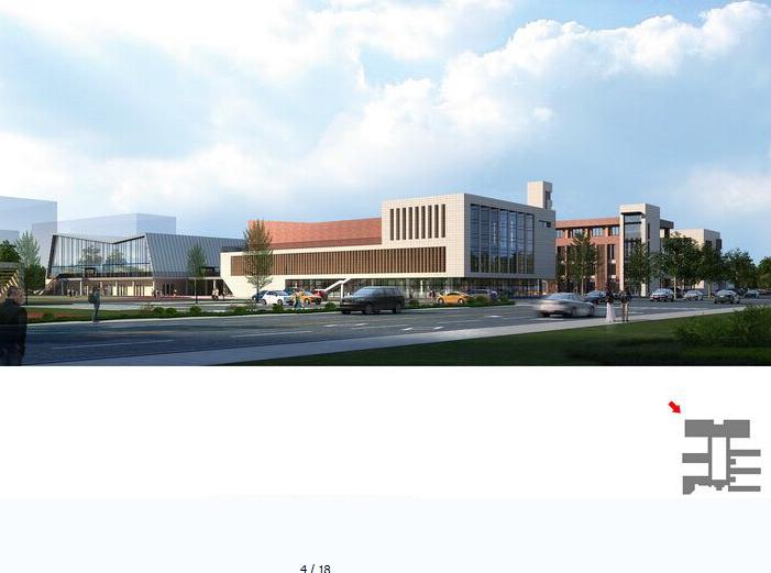 金浦中学竞标方案设计建筑SU模型-效果图2