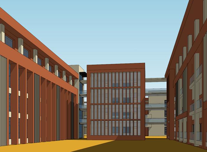 金浦中学竞标方案设计建筑SU模型-效果图5