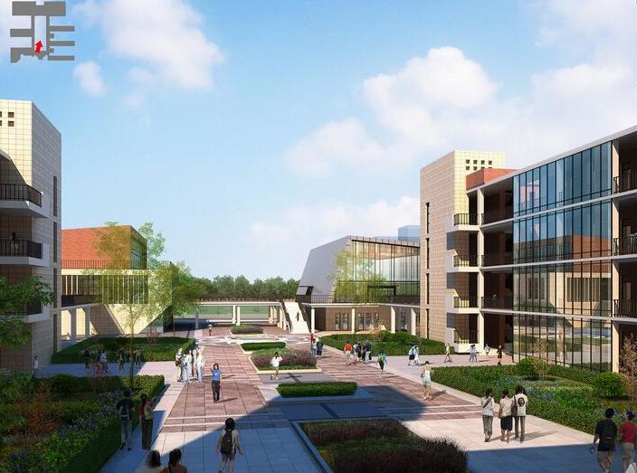 金浦中学竞标方案设计建筑SU模型-效果图3
