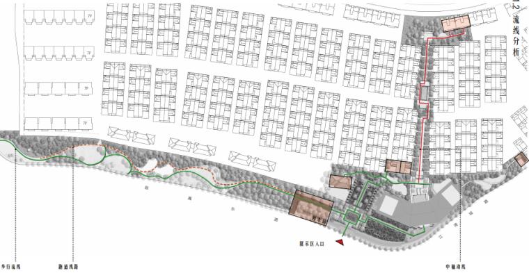 [上海]海派传统中式院子住宅景观方案文本-流线分析