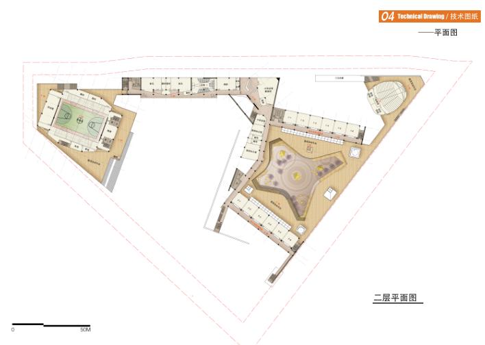 宁波开放式孙马学校规划建筑设计方案文本-平面图