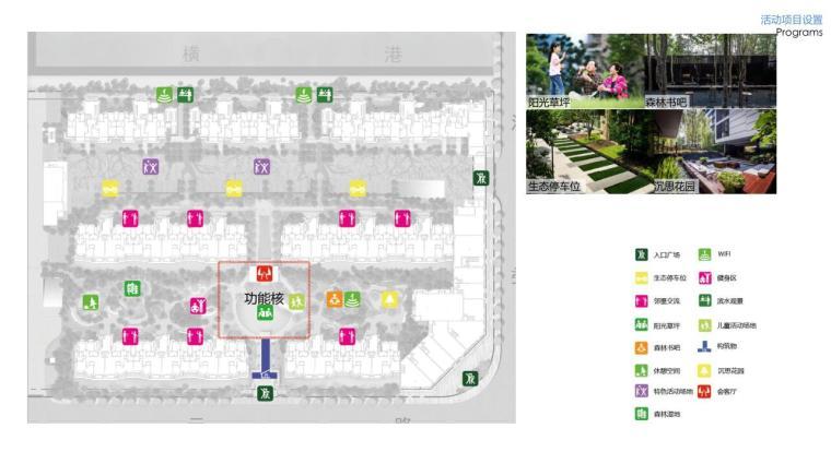 """""""纯林社区""""中式住宅景观方案深化设计-活动项目设置"""