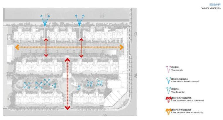 """""""纯林社区""""中式住宅景观方案深化设计-视线分析"""