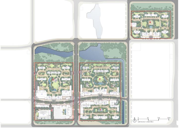 [福建]厦门现代创意自然园林住宅景观设计-总平面图