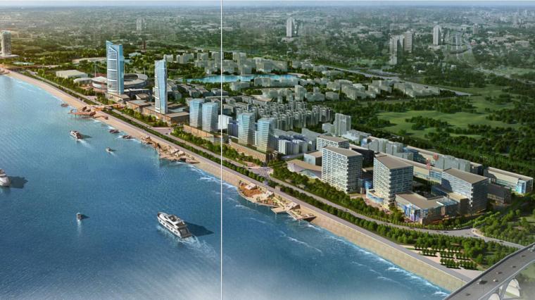 [湖南]湘潭湘江生态经济带景观绿带设计-江景效果图