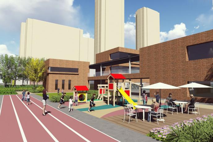 [福建]厦门现代创意自然园林住宅景观设计-儿童娱乐区效果图