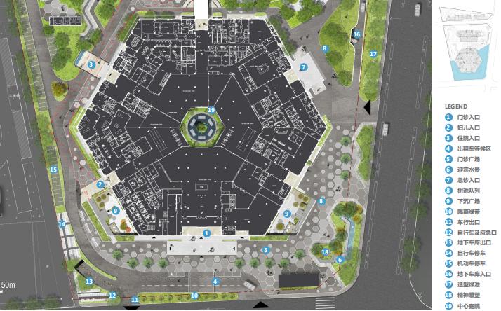 [江苏]徐州医院疗养花园景观方案深化文本-急诊广场平面图