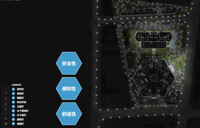 [江苏]徐州医院疗养花园景观方案深化文本-灯光策略