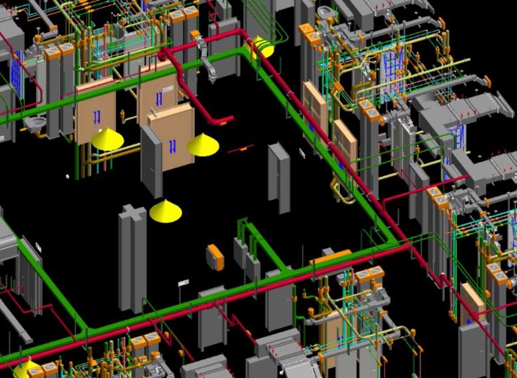 酒店标准层BIM机电安装优化(含模型图纸)-优化设计