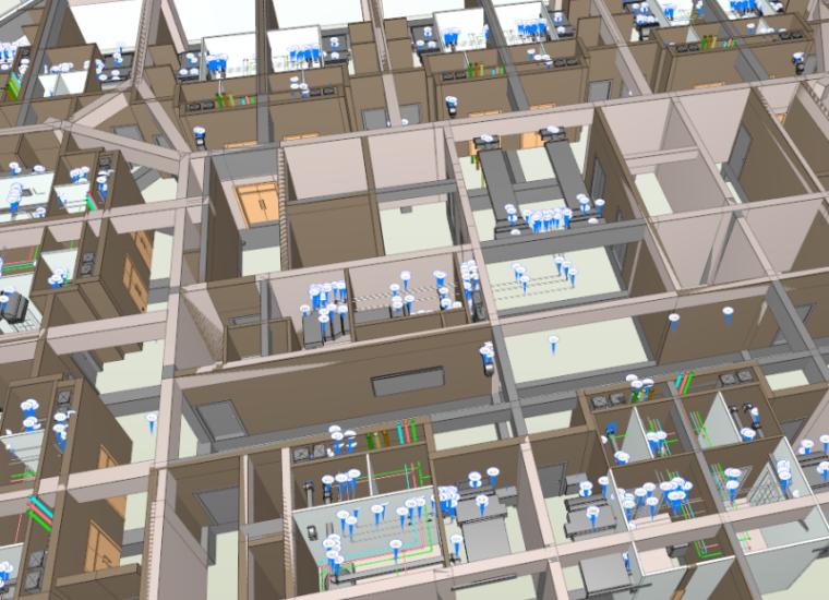 酒店标准层BIM机电安装优化(含模型图纸)
