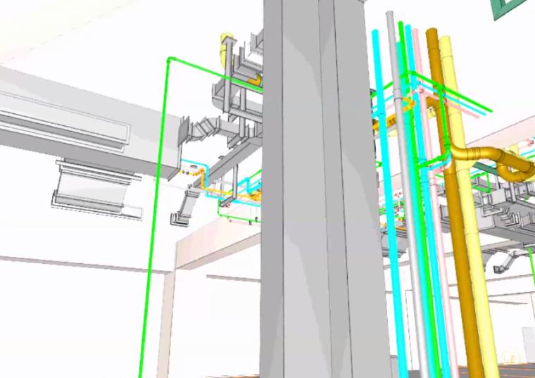 酒店标准层BIM机电安装优化(含模型图纸)-预留灯具散热