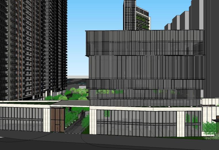 浙江时代中心滨江豪宅建筑模型设计 (2)