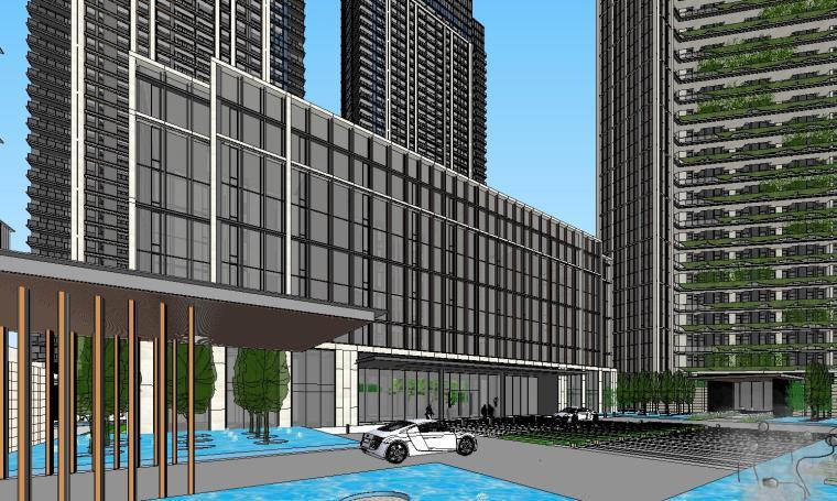 浙江时代中心滨江豪宅建筑模型设计 (3)