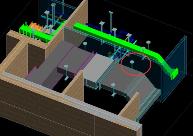 酒店标准层BIM机电安装优化(含模型图纸)-接管施工空间