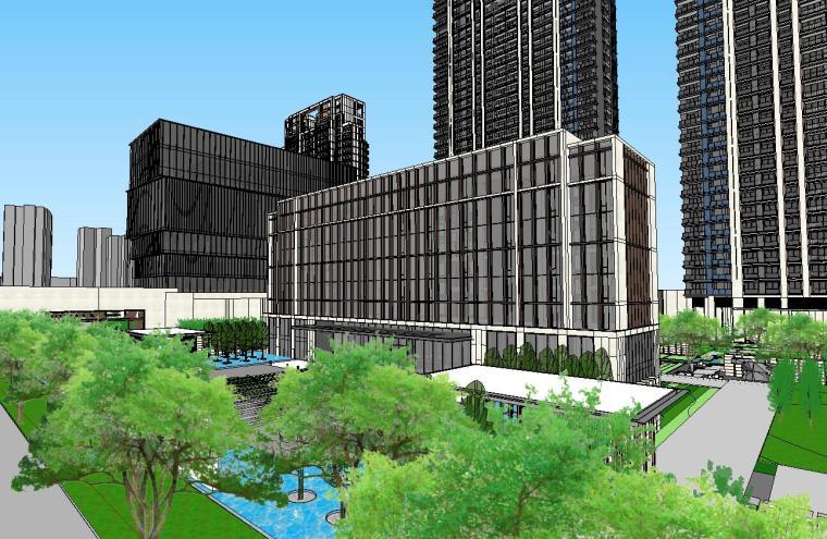 浙江时代中心滨江豪宅建筑模型设计 (6)