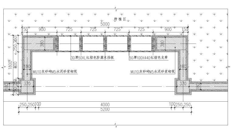 住宅现代风格三联坐凳详图设计 (2)
